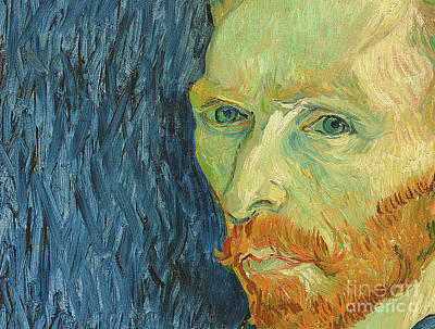 Deep In Thought Painting - Self Portrait 1889 by Vincent Van Gogh