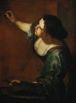 Self-portrait Painting - Self-portrait As The Allegory Of Painting by Artemisia Gentileschi