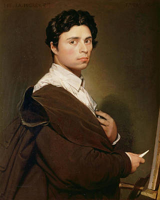 Self Shot Painting - Self-portrait At Age 24 by Jean-Auguste-Dominique Ingres