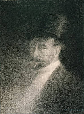 Drawing - Self-portrait by Charles Angrand