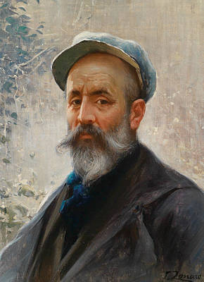 Painting - Self-portrait by Fausto Zonaro