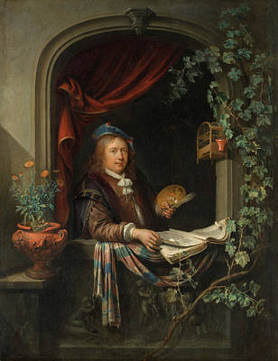 Dow Painting - Self-portrait by Gerrit Dou