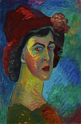 Russian Woman Painting - Self-portrait I by Marianne von Werefkin