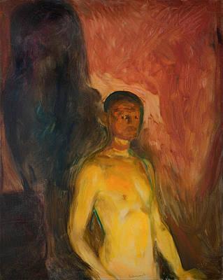 Self Portrait In Hell Art Print by Mountain Dreams