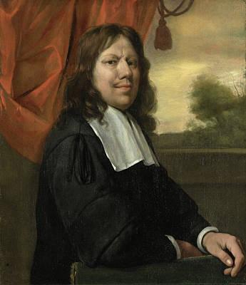 Baroque Painting - Self Portrait by Jan Steen