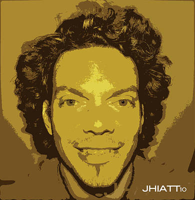 Digital Art - Self Portrait by Justin Hiatt
