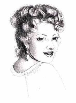 Self Portrait Art Print by Scarlett Royal