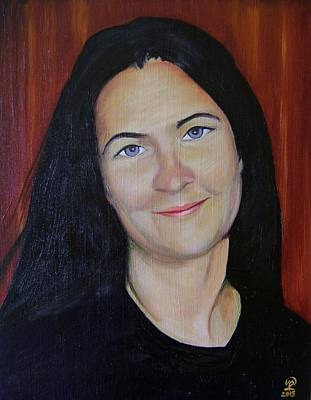Painting - Self-portrait by Therese Legere