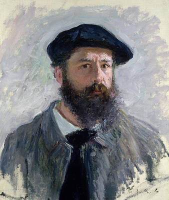 Portraits Painting - Self Portrait With A Beret by Claude Monet