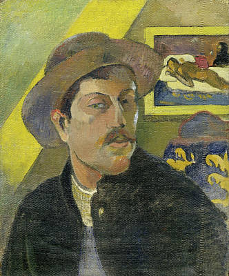 France Painting - Self-portrait With A Hat by Paul Gauguin