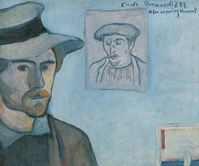 Self-portrait With Portrait Of Gauguin Art Print