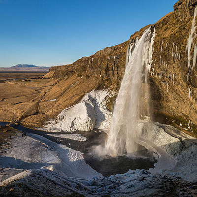 Cold Temperature Photograph - Seljalandsfoss Waterfall In The Winter by Panoramic Images