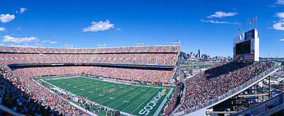 Sell-out Crowd At Mile High Stadium Art Print