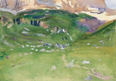 Drawing - Sellar Alp, Dolomites by John Singer Sargent