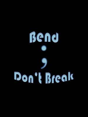 Digital Art - Semicolon Typography 09 by Bill Owen