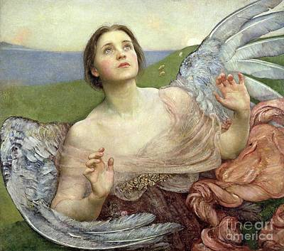 Pre-raphaelite Painting - Sense Of Sight by Annie Louisa Swinnerton