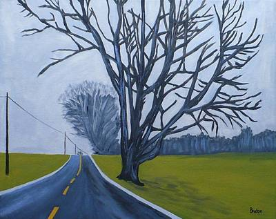 Maine Roads Painting - Sentinel by Laurie Breton