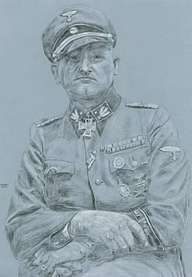 Ww Ii Drawing - Sepp Dietrich by Dennis Larson