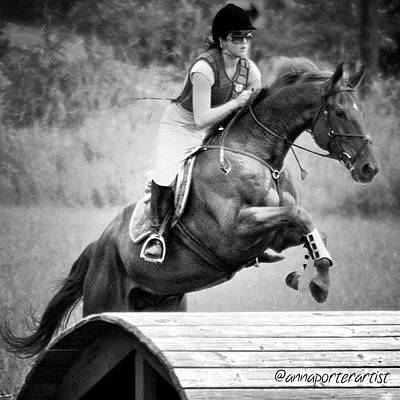 Horse Wall Art - Photograph - Sheer Determination by Anna Porter