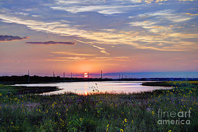 September Sunrise Over The Baker Wetlands Art Print