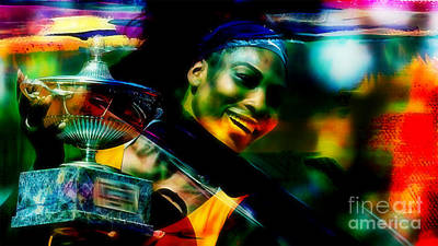 Tennis Mixed Media - Serena Williams by Marvin Blaine