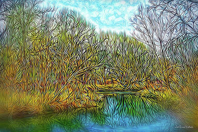 Digital Art - Serenity Reflections by Joel Bruce Wallach