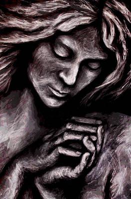 Contemplative Mixed Media - Serenity by Zoe Oakley