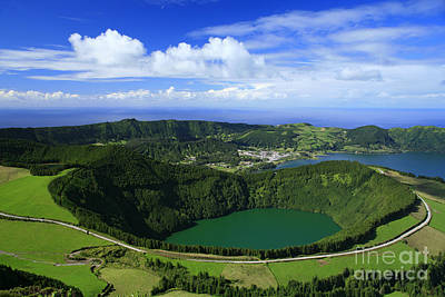 Sete Photograph - Sete Cidades Crater by Gaspar Avila