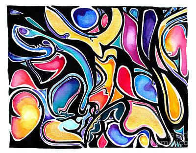 Painting - Seven by Expressionistart studio Priscilla Batzell