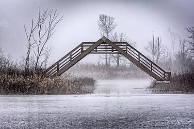 Photograph - Seven Ponds A Frame Bridge by LeeAnn McLaneGoetz McLaneGoetzStudioLLCcom