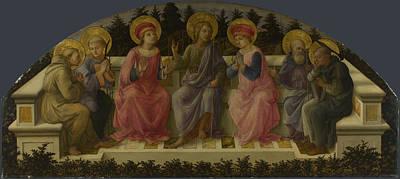Digital Art - Seven Saints by Fra Filippo Lippi
