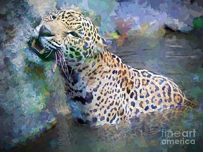 Wild Cats Painting - Seven Year Itch by Judy Kay