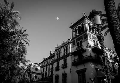 Moonrise Photograph - Seville - Hotel Alfonso Xiii - Moonrise by Andrea Mazzocchetti