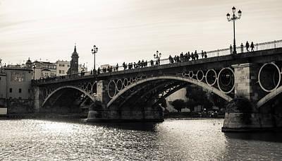 City Scenes Photograph - Seville - The Triana Bridge by Andrea Mazzocchetti