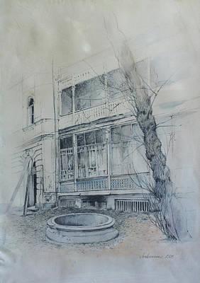 Tbilisi Drawing - Sh. Dadiani Str. by Anastasia Logvinenko