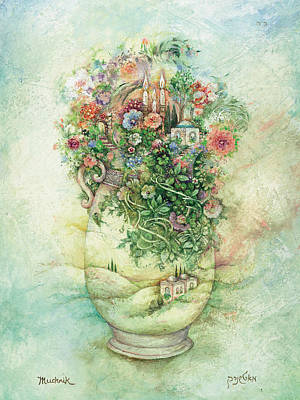Jerusalem Painting - Shabbat Vase by Michoel Muchnik