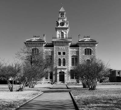Photograph - Shackelford County Courthouse by Library Of Congress