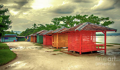 Art Print featuring the photograph Shacks by Charuhas Images