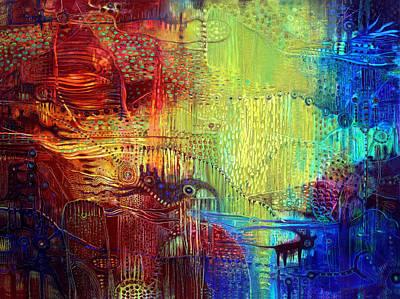 Shadows Of The Dream I Art Print by Lolita Bronzini