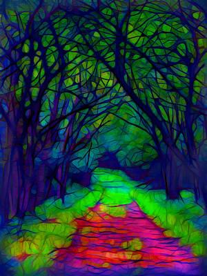 Plein Air Mixed Media - Shady Path by Lilia D