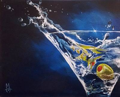 Martini Painting Royalty Free Images - Shaken Not Stirred Royalty-Free Image by Marco Antonio Aguilar