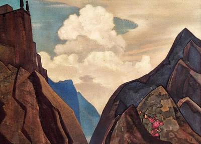 Mount Painting - Shambale Daik by Nicholas Roerich