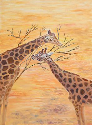 Painting - Sharing by Elizabeth Lock