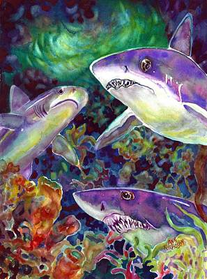 Painting - Sharks by Ann Nicholson