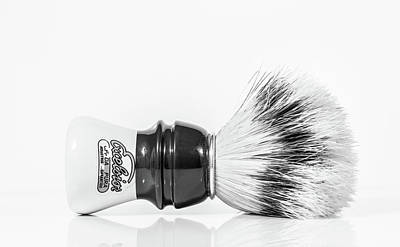 Photograph - Shaving Brush by Gary Gillette