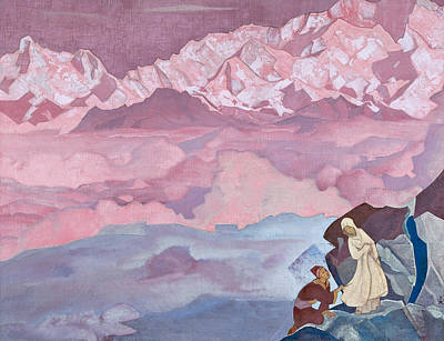 Suggestive Painting - She Who Leads by Nicholas Roerich