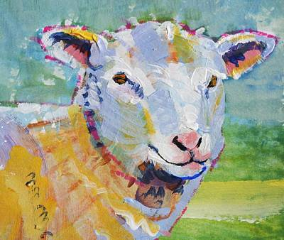 Drawing - Sheep Head by Mike Jory