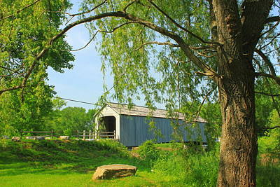 Photograph - Sheffield Upper Covered Bridge by John Burk