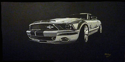 Painting - Shelby Mustang Front  by Richard Le Page