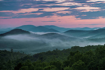 Photograph - Shenandoah Sunrise by Kevin Blackburn